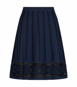 Floral Appliqué Skirt
