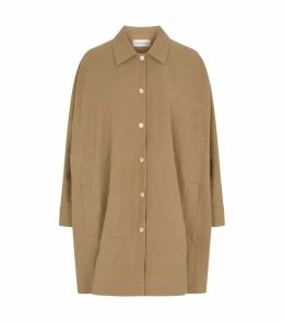 Linen Cotton Drawstring Coat