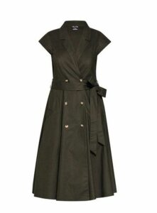 **City Chic Green Military Dress, Green