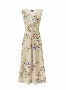**Grace Ivory Twist Maxi Dress, Ivory