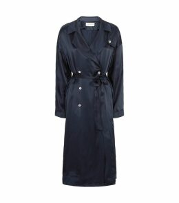Silk Trench Coat