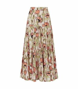 Tiered Floral Skirt