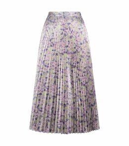 Floral Lurex Midi Skirt
