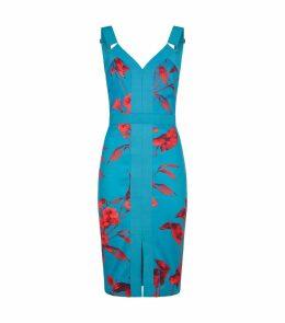 Jordja Fantasia Panel Bodycon Dress