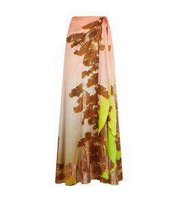 Serrsucker Floral Midi Skirt