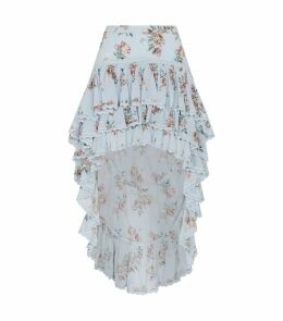Elle Floral Asymmetric Ruffle Skirt