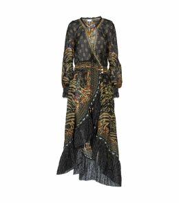 Silk The Night We Met Wrap Dress