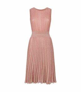 Pleated Striped Dress