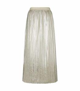 Ariiana Metallic Midi Skirt