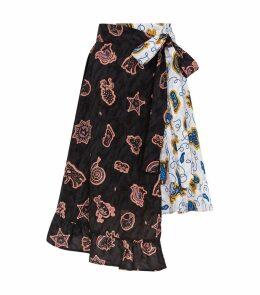 x Paula's Ibiza Printed Wrap Skirt