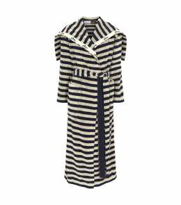 x Paula's Ibiza Stripe Towel Coat