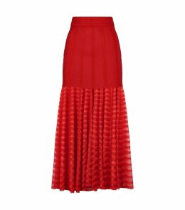 Scalloped Midi Skirt