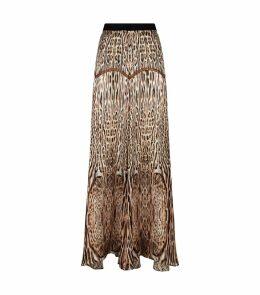 Ocelot Print Skirt