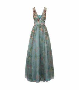 Amaryllis Embellished Tulle Gown