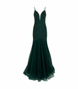 Embellished Trumpet Gown