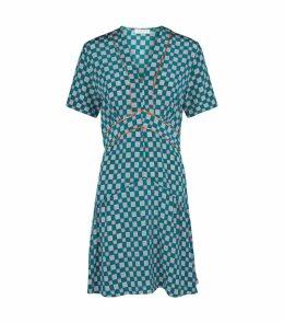 Silk Geometric Dress