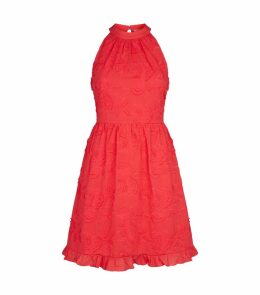Lorene Halterneck Lace Dress