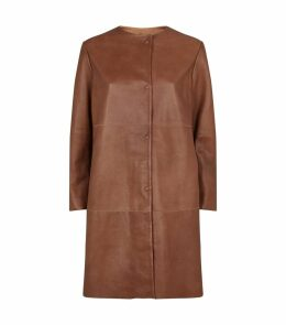 Leather Bobbio Coat