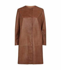Bobbio Leather Coat