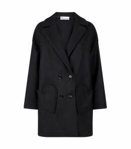 Wool Heart Pockets Coat