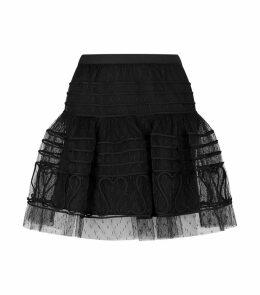 Tulle Heart Mini Skirt