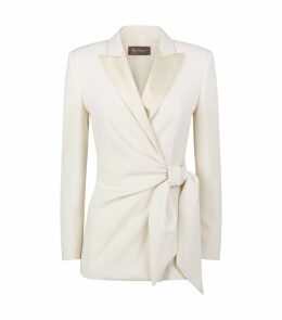 Silk Trim Wrap Blazer