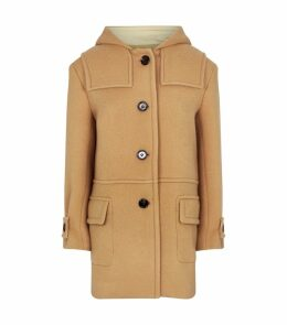 Wool-Mohair Hooded Coat
