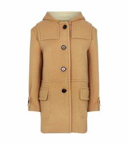 Wool-Mohair Hooded Coat