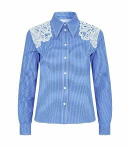 Lace Trim Check Shirt