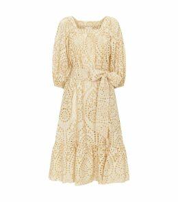 Eyelet Maxi Dress