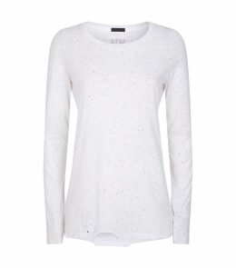 Pima Cotton Splatter Print Shirt