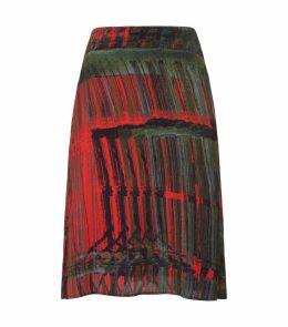 Paint Stroke A-Line Skirt