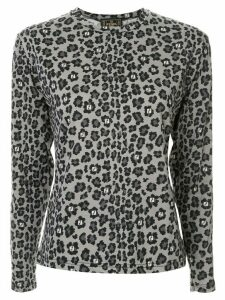 Fendi Pre-Owned leopard monogram longsleeved T-shirt - Black