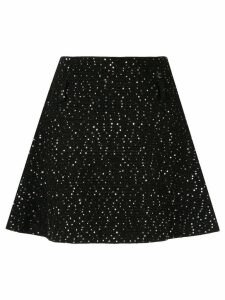 Chanel Pre-Owned knitted sequinned A-line skirt - Black
