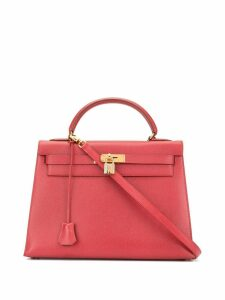 Hermès Pre-Owned Kelly 32 Sellier 2way hand bag - Red