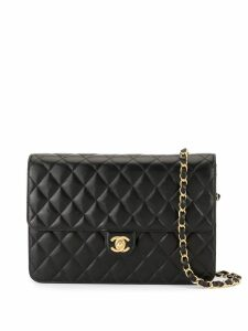 Chanel Pre-Owned CC logos chain shoulder bag - Black