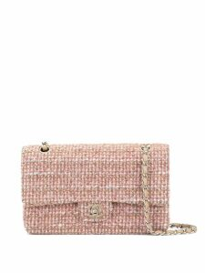 Chanel Pre-Owned tweed Double Flap Chain shoulder bag - Pink