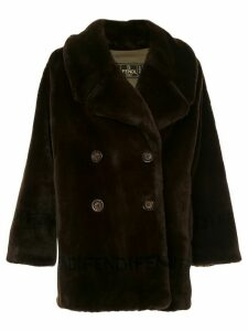Fendi Pre-Owned faux fur double breasted coat - Brown
