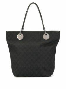 Gucci Pre-Owned GG pattern shoulder tote bag - Black