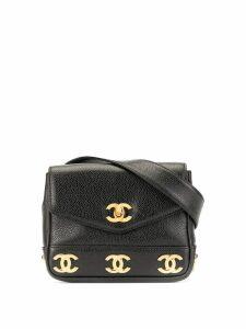 Chanel Pre-Owned CC logos belt bag - Black