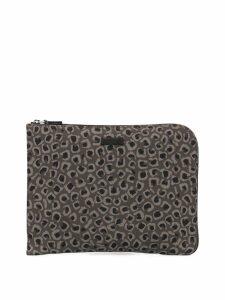 Gucci Pre-Owned Leopard Print Nylon clutch - Grey