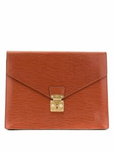 Louis Vuitton Pre-Owned envelope-style clutch - Brown