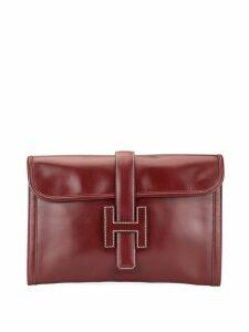 Hermès Pre-Owned Jige PM H logo clutch - Red