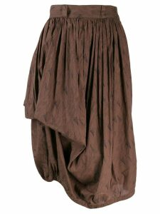 Versace Pre-Owned 1980's gathered asymmetric skirt - Brown