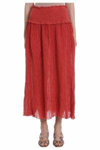 Zimmermann Veneto Shirred Waist Skirt