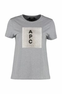 A.P.C. Logo Print Cotton T-shirt