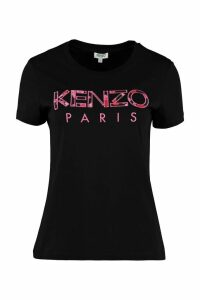 Kenzo Cotton T-shirt With Embroidered Logo