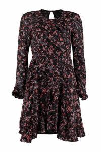 IRO About Ruffled Crepe Mini Dress