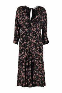 IRO Temper Floral Print Crepe Dress