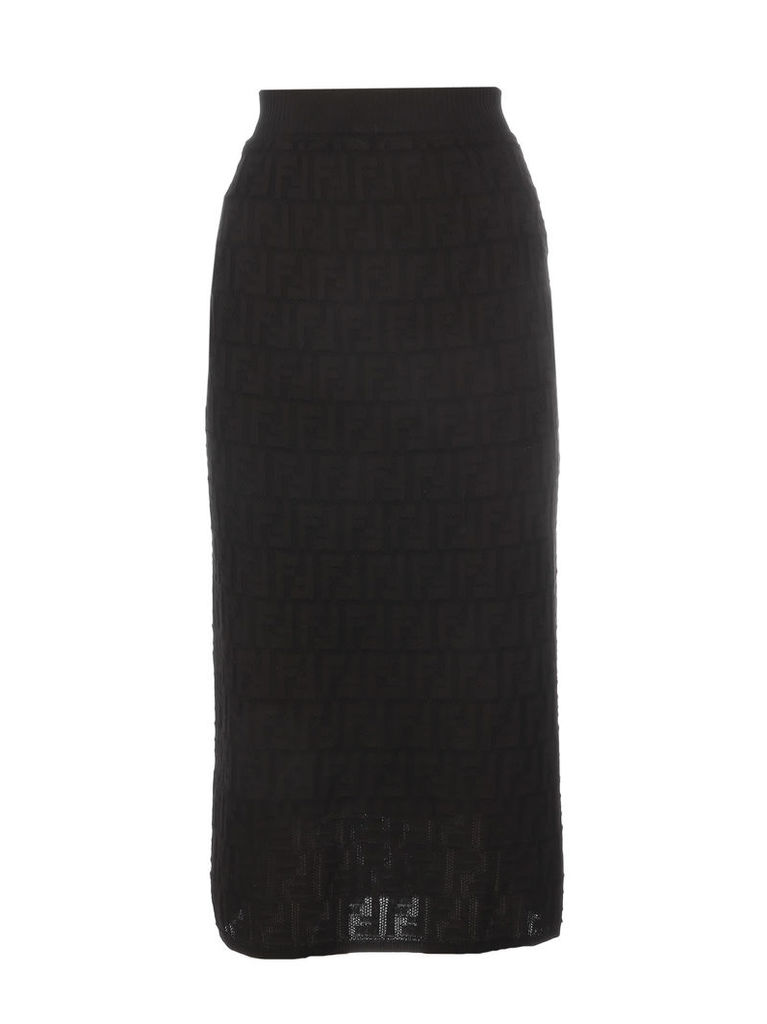 Fendi Ff Cotton Skirt